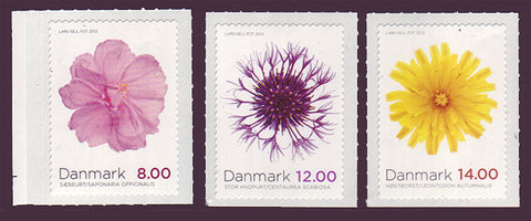 DE1608 Denmark Scott # 1608-10 MNH, Autumn Flowers 2012