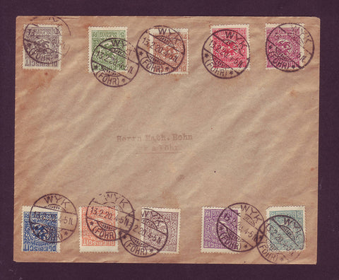DE5004 Denmark. Slesvig Plebiscite #1-10,  Used On Cover 1920