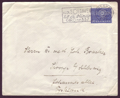 DE5021 Denmark, Letter to Germany  1961