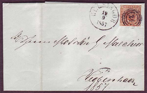DE5024PH Denmark, Folded Letter 1857