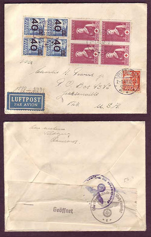 DE5026PH Denmark Censored cover to USA 1941