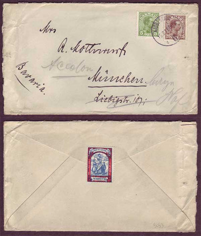 DE5053abPH Denmark,  Letter to Germany 1916