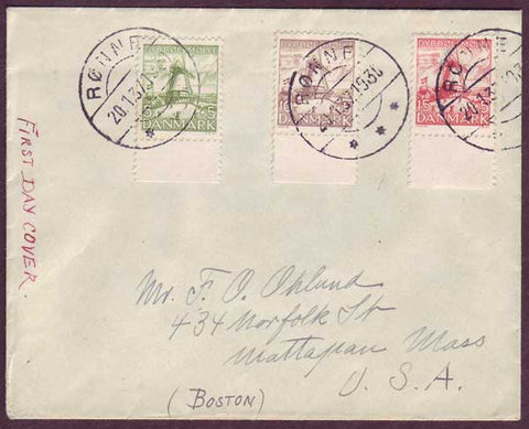 DE5075PH Denmark Dybbol Mill FDC to USA 1937