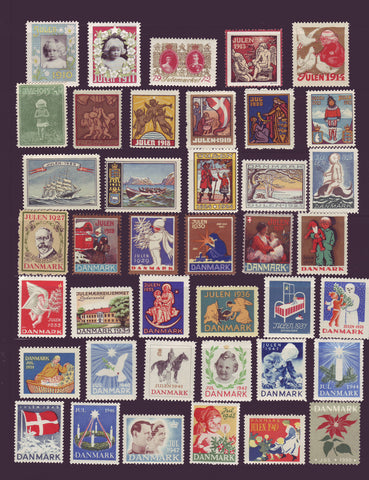 DE8001 Denmark Christmas Seal Collection 1910-50 MNH**