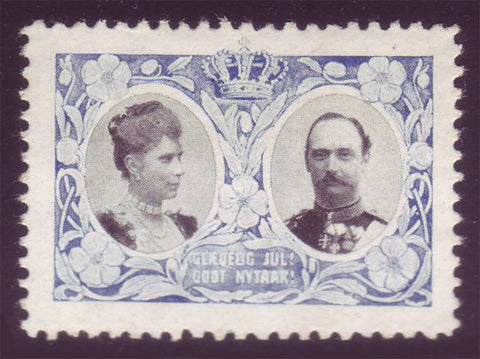 DE4007 Denmark 1907 Christmas Seal MNH, King Frederik VIII and Queen Louise.