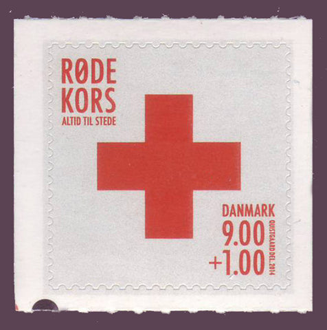 DEB1071 Denmark Scott # B107 MNH**,  Red Cross 2014