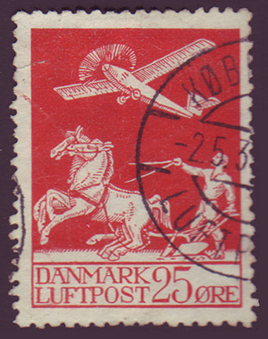 DEC03 Denmark Scott # C3 Used, Air Mail 1925-29