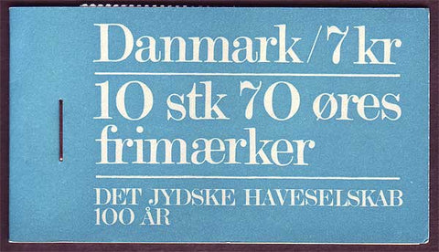 DE0521a Denmark Scott # 521a booklet MNH, Red Roses 1973