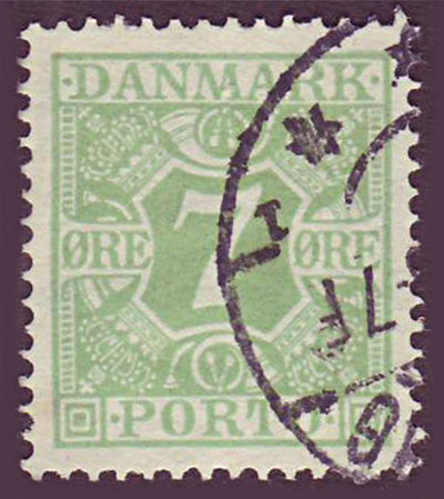DEJ13 Denmark Scott # J13 VF used, Postage Due 1921