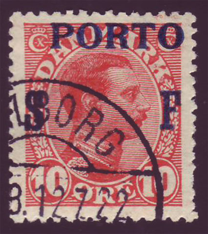 DEJ08 Denmark Scott # J8 used, Postage Due 1921