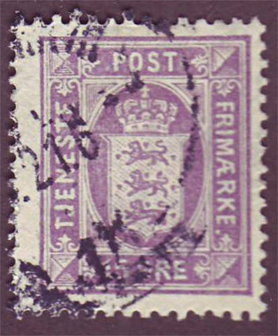 DEO23 Denmark Scott # O23 F-VF Used, Official Stamp 1919