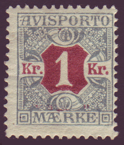 DEP08 Denmark Scott # P8, Newspaper stamp 1907
