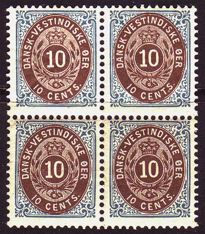 DW20bl2 Danish West Indies Scott # 20  block of 4