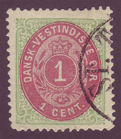 DWI05.1 Danish West Indies Scott # 5c VF