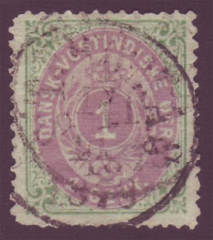 DWI05.4 Danish West Indies Scott # 5a VF