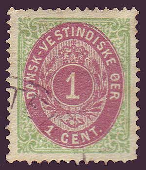 DWI05c Danish West Indies Scott # 5b VF
