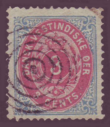 DWI06.2 Danish West Indies Scott # 6a VF