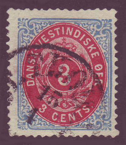 DWI06.4 Danish West Indies Scott # 6b F-VF