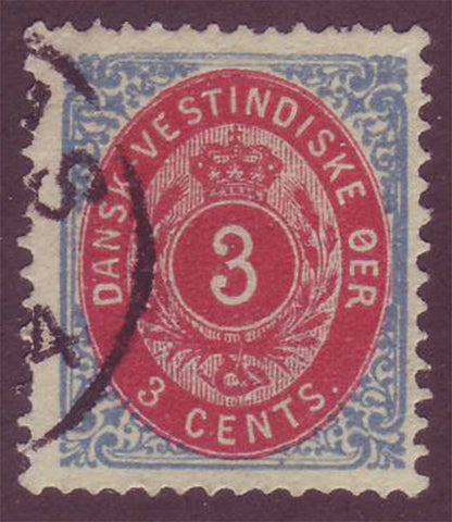 DWI06e Danish West Indies Scott # 6e VF used