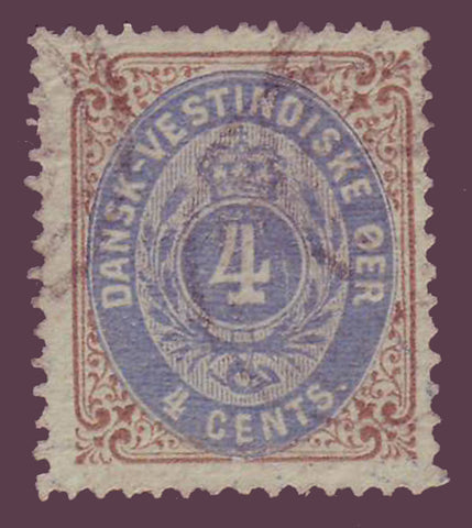 DWI07 Danish West Indies Scott # 7 used