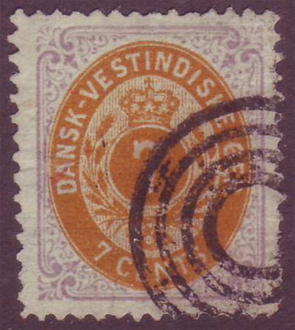 DWI095X Danish West Indies Scott # 9 F-VF