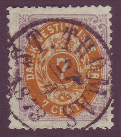 DWI095 (2) Danish West Indies Scott # 9 F-VF