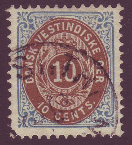 DWI195 Danish West Indies Scott # 19 (inverted frame)