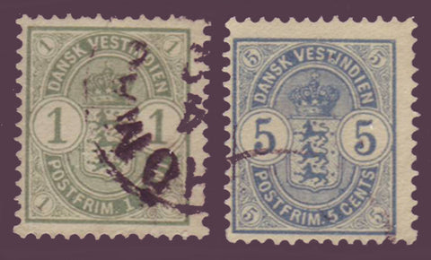 DWI225 Danish West Indies Scott # 22 F-VF