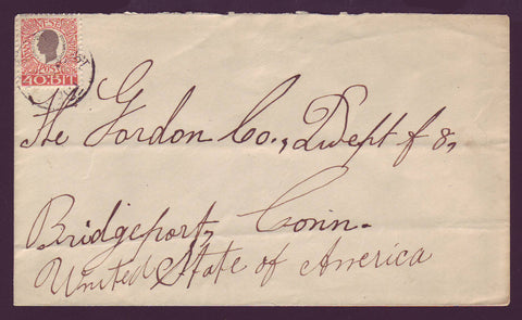 DWI5001A Danish West Indies Business Letter to USA - 1907