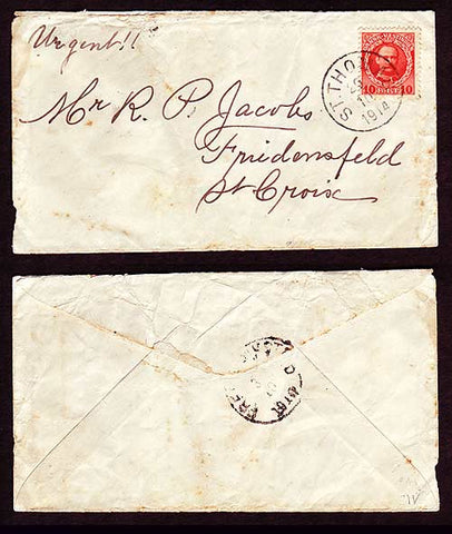 DWI5005 Danish West Indies Local Cover 1914