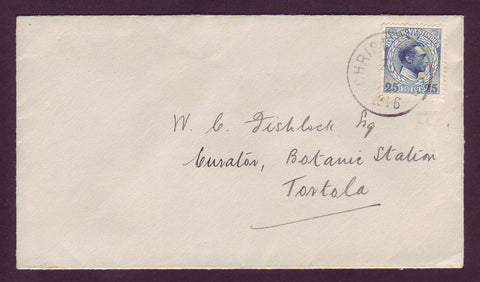 DWI5011 Danish West Indies Envelope to Tortola 1916