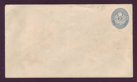 DWI5018 Danish West Indies Postal Stationery Envelope, VF Unused