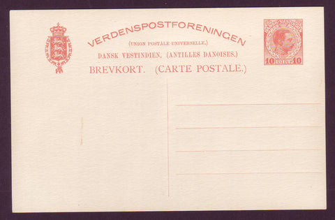 DWI5019 Danish West Indies Postal Stationery Postcard, VF Unused