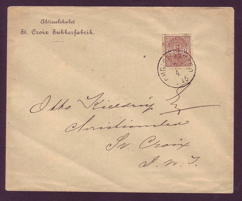 DWI5003A Danish West Indies Local Letter (Philatelic) - 1915
