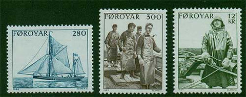 FA0112-141 Faroe Islands Scott # 112-14 VF MNH