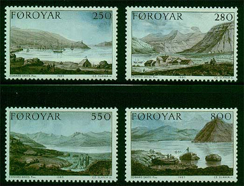 FA0121-241 Faroe Islands Scott # 121-24 VF MNH
