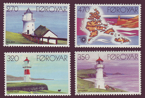 FA0130-33 Faroe Islands Scott # 130-33 VF MNH