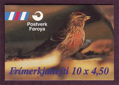 FA0314a1 Faroe Islands Scott # 314a VF MNH, Birds 1997