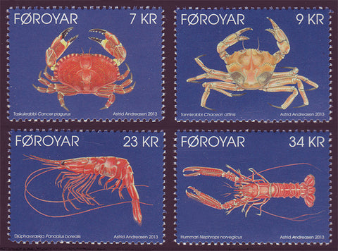FA0595-98 Faroe Is.   Scott # 595-98 MNH, Seafood 2013