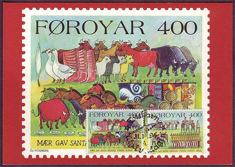 FA6032 Faroe Islands Christmas maxi-card 1994