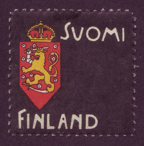 Finland Mourning Stamp - Private Label 1900