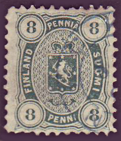 FI0019.15 Finland Scott # 19 VF used 1875