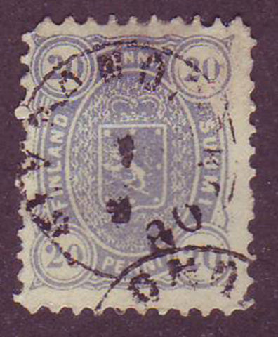 FI0021b5 Finland Scott # 21b prussian blue 1875