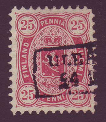 FI00225 Finland Scott # 22 VF used 1879