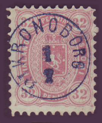 FI0023.45 Finland Scott # 23a used (rose) 1875