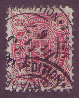 FI0023.15 Finland Scott # 23 VF used, railway cancel 1875