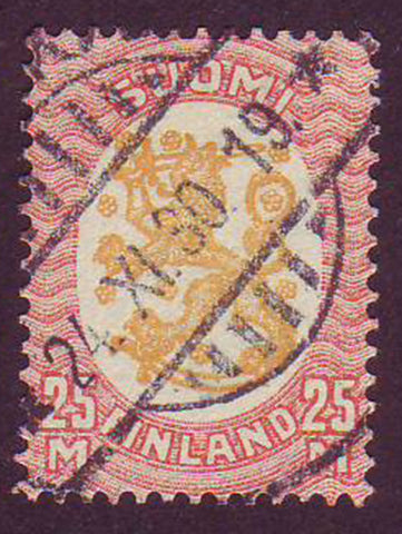 FI01105 Finland Scott # 110 XF used, Arms of the Republic 1917-1930