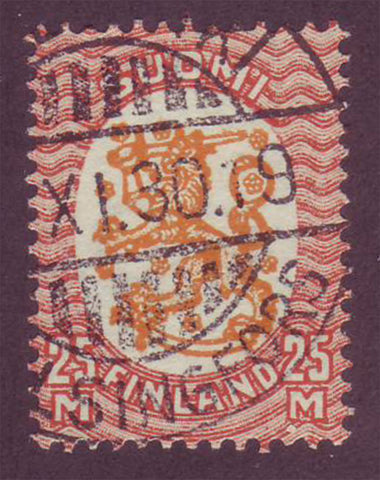 FI01525 Finland Scott # 152 XF used, Arms of the Republic 1927-29