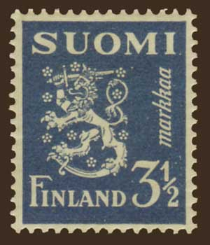 FI01762 Finland Scott # 176 MH, Arms of the Republic 1930-46