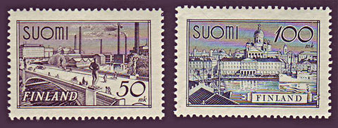 FI0239-401 Finland Scott # 239-40 VF MNH, City Views 1942